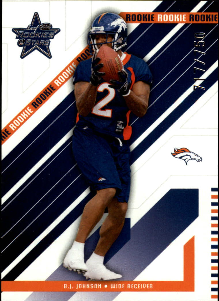 2004 Leaf Rookies and Stars #204 B.J. Johnson RC