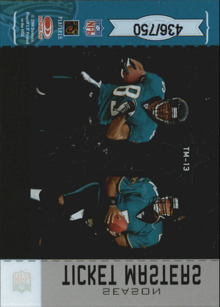 2004 Leaf Rookies and Stars Ticket Masters Silver Season #TM13 Byron Leftwich/Fred Taylor back image