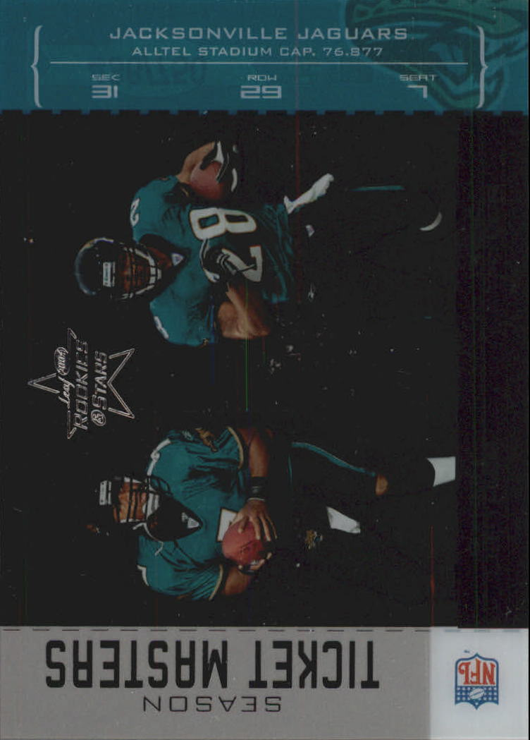 2004 Leaf Rookies and Stars Ticket Masters Silver Season #TM13 Byron Leftwich/Fred Taylor