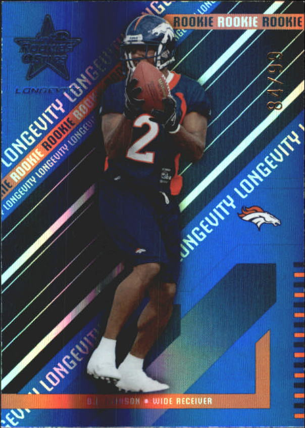 2004 Leaf Rookies and Stars Longevity Sapphire #204 B.J. Johnson