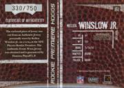 2004 Playoff Hogg Heaven #161 Kellen Winslow RPH RC back image