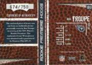 2004 Playoff Hogg Heaven #180 Ben Troupe RPH RC back image