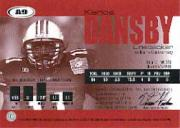 2004 SAGE Autographs Red #A9 Karlos Dansby/770 back image
