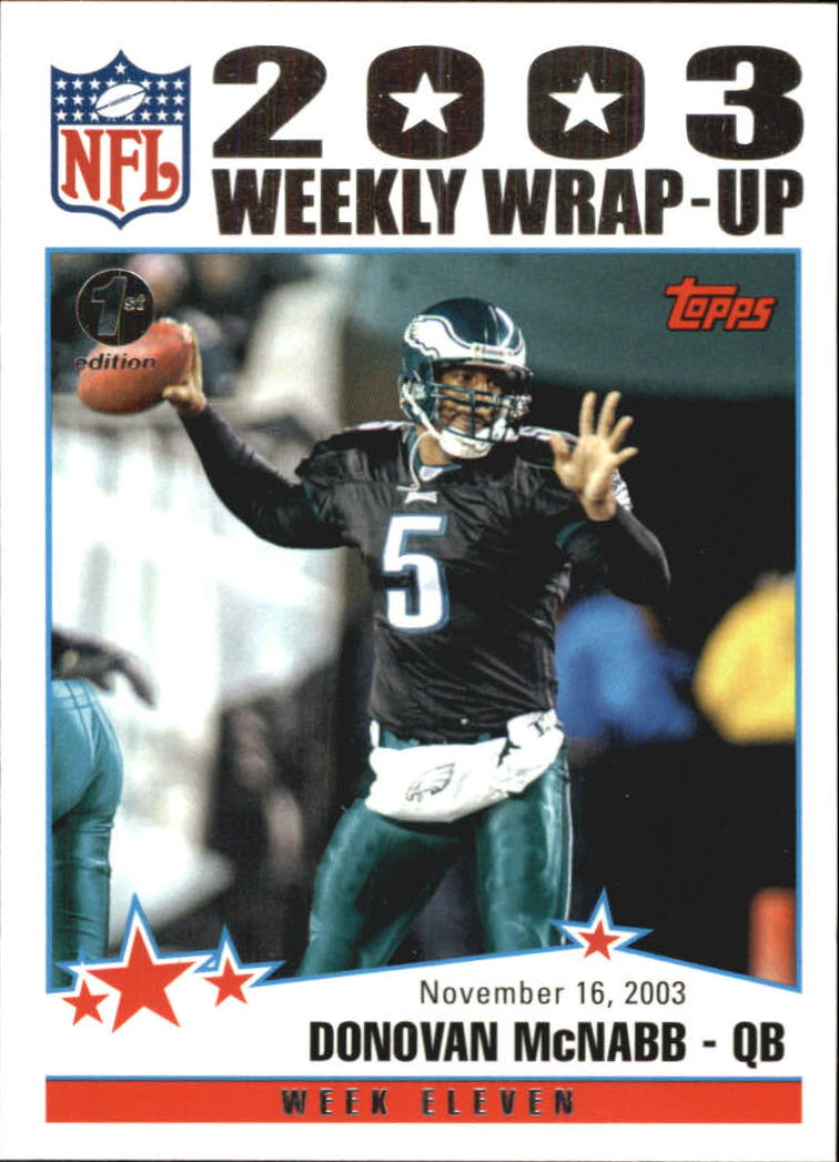 2004 Topps First Edition #301 Donovan McNabb WW