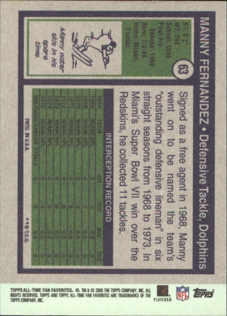 2004 Topps Fan Favorites #63 Manny Fernandez back image