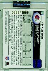 2004 Topps Signature #78 Lee Evans AU/1099 RC back image