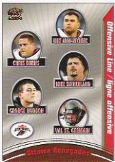 2004 Pacific CFL #62 Mike Abou-Mechrek/Chris Burns/Mike Sutherland/George Hudson/Val St. Germain