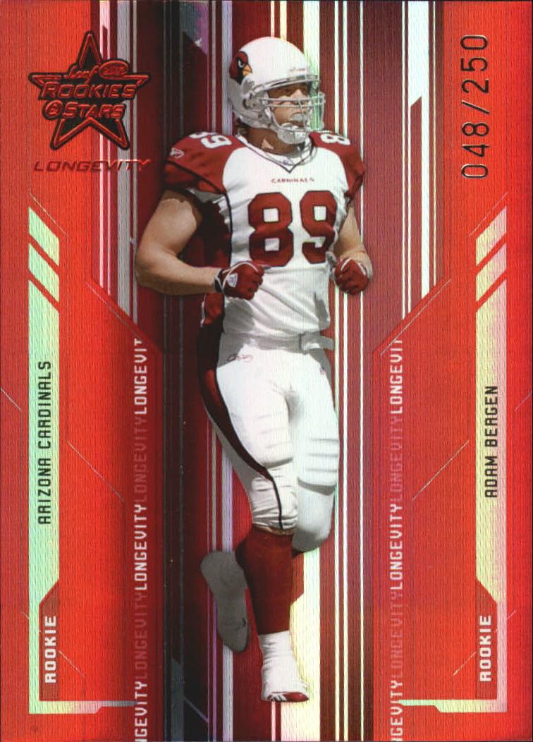 2005 Leaf Rookies and Stars Longevity Ruby #193 Adam Bergen