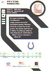 2005 Donruss Elite #39 Peyton Manning back image
