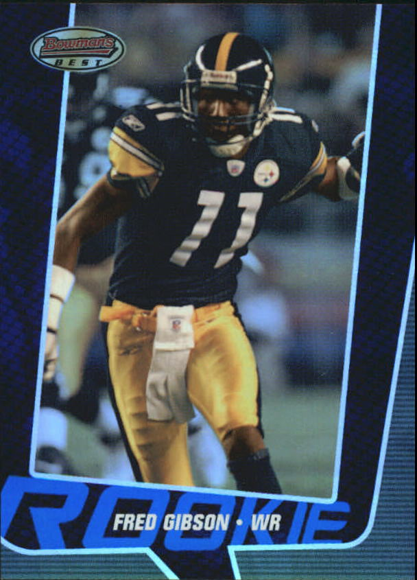 2005 Bowman's Best Blue #80 Fred Gibson