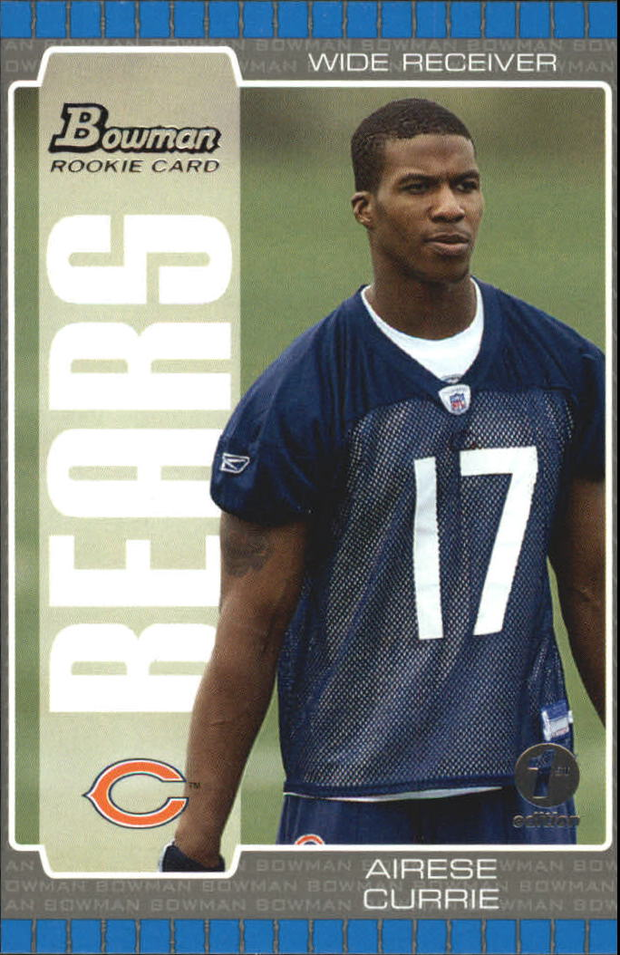 2005 Bowman First Edition #139 Airese Currie