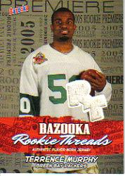 2005 Bazooka Rookie Threads #BZRTM Terrence Murphy Grn