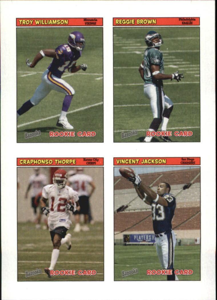 2005 Bazooka Stickers #52 Craphonso Thorpe/Reggie Brown/Troy Williamson/Vincent Jackson