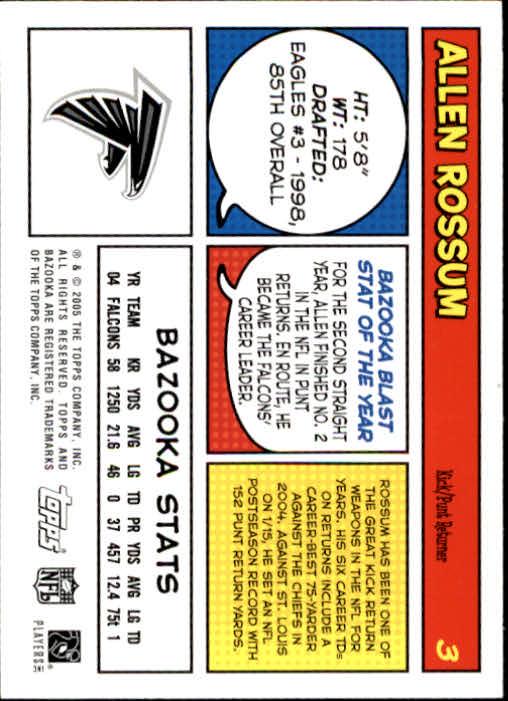 2005 Bazooka #3 Allen Rossum back image