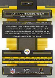 2005 Absolute Memorabilia Retail #116 Ben Roethlisberger back image