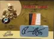 2005 Absolute Memorabilia Marks of Fame Material Autographs #18 Ronnie Brown/300