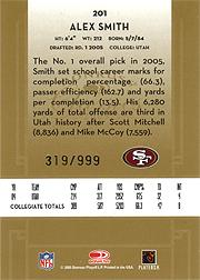 2005 Donruss Classics #201 Alex Smith QB RC back image