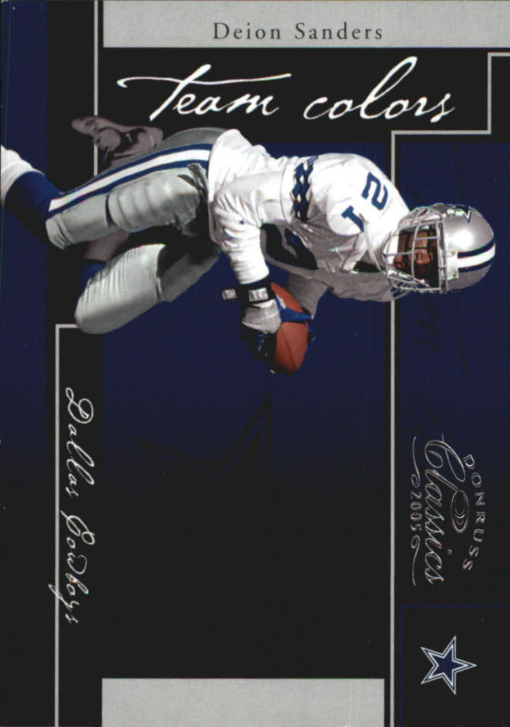 2005 Donruss Classics Team Colors Silver #4 Deion Sanders