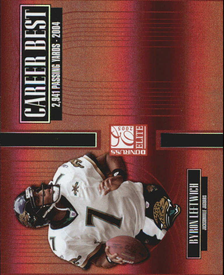 2005 Donruss Elite Career Best Red #CB7 Byron Leftwich