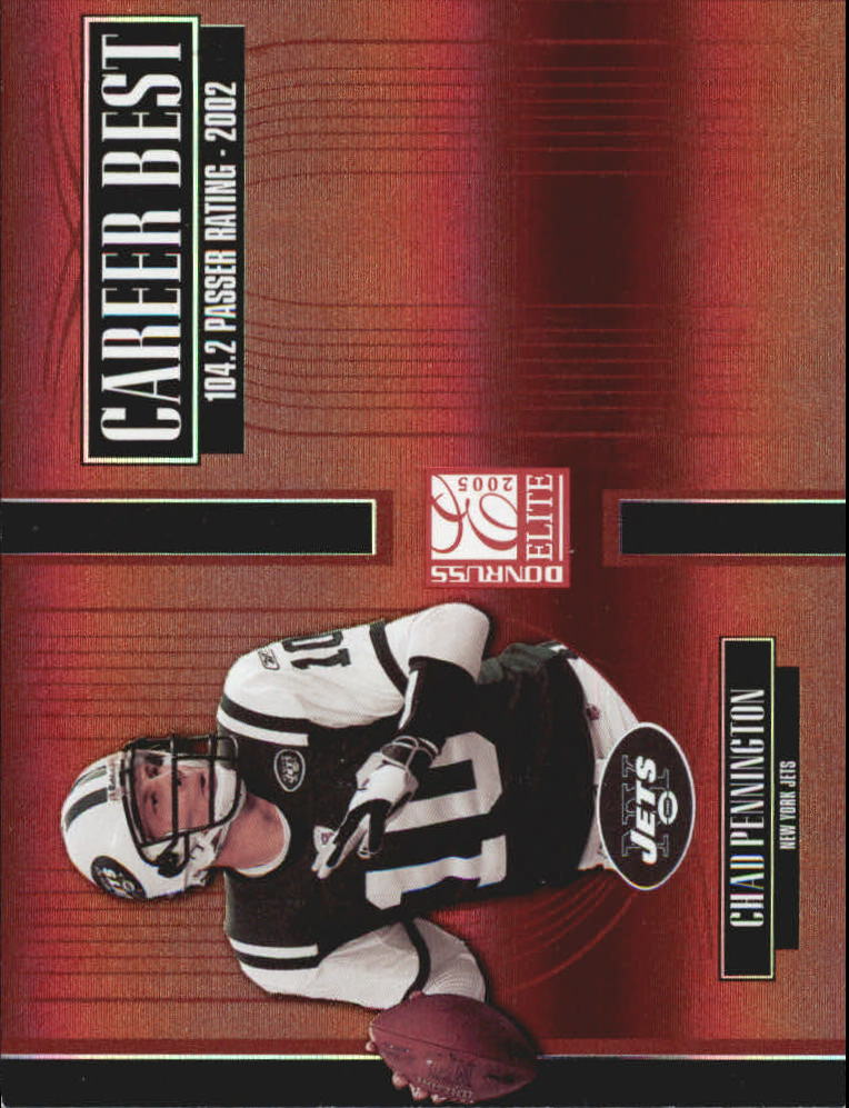 2005 Donruss Elite Career Best Red #CB10 Chad Pennington