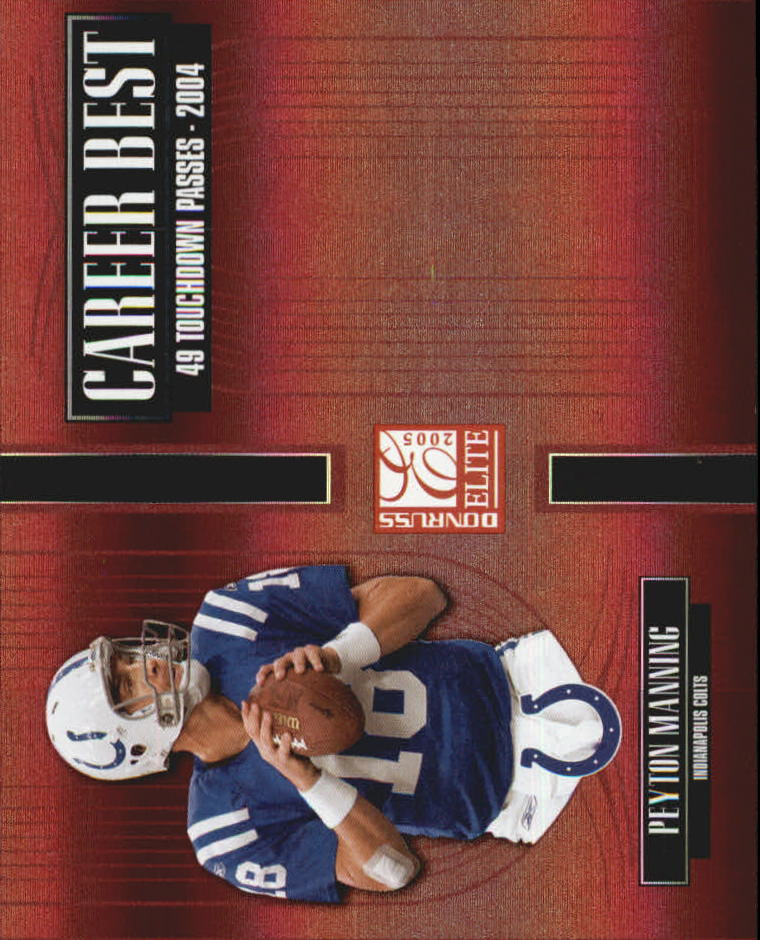 2005 Donruss Elite Career Best Red #CB36 Peyton Manning