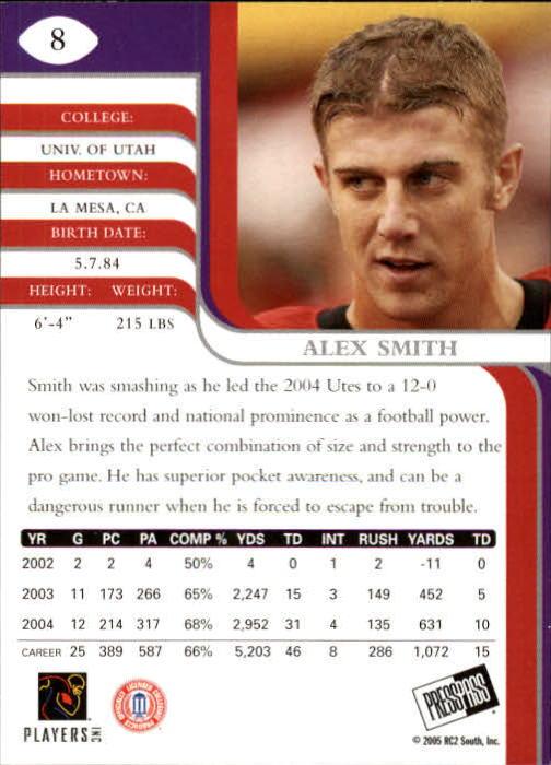 2005 Press Pass SE #8 Alex Smith QB back image
