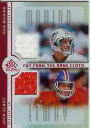 2005 Reflections Cut From the Same Cloth Red #CCME Dan Marino/John Elway