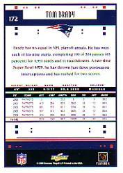 2005 Score #172 Tom Brady back image