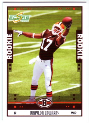 2005 Score #333 Braylon Edwards RC