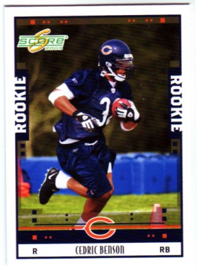 2005 Score #334 Cedric Benson RC