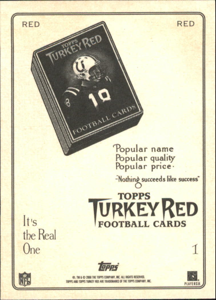 2005 Topps Turkey Red Red #1B Eli Manning Ad Back back image