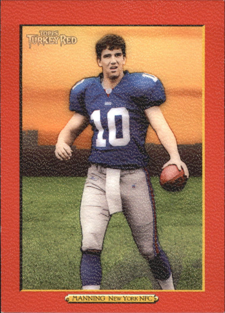 2005 Topps Turkey Red Red #1B Eli Manning Ad Back