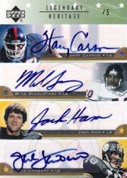2005 Upper Deck Legends Legendary Heritage Autographs #H5 Harry Carson/Mike Singletary/Jack Ham/Jack Lambert/L.C. Greenwood/Deacon Jones/Alan Page/Art Donovan