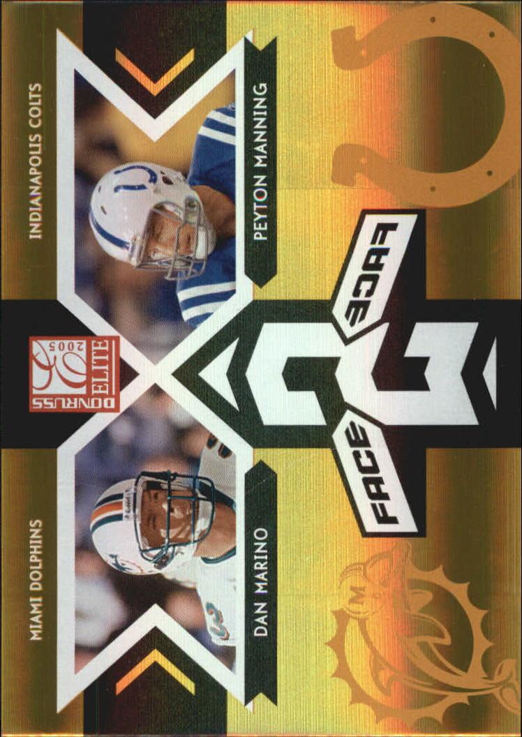 2005 Donruss Elite Face 2 Face Gold #CB6 Dan Marino/Peyton Manning