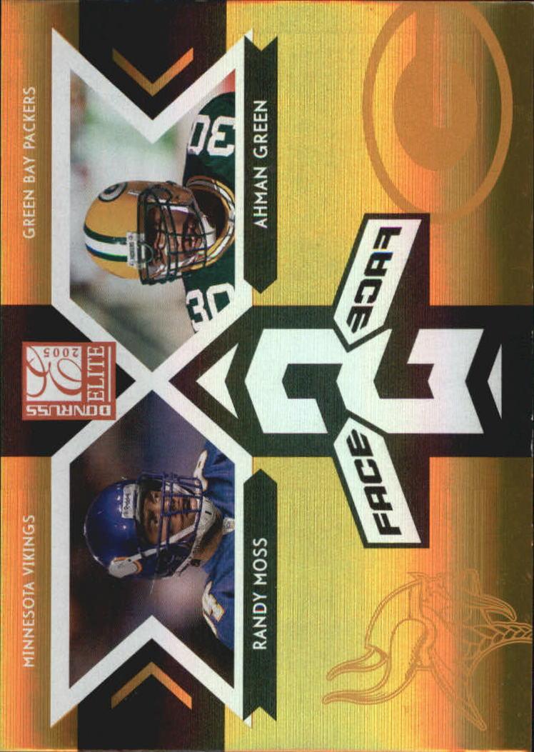 2005 Donruss Elite Face 2 Face Gold #CB9 Randy Moss/Ahman Green