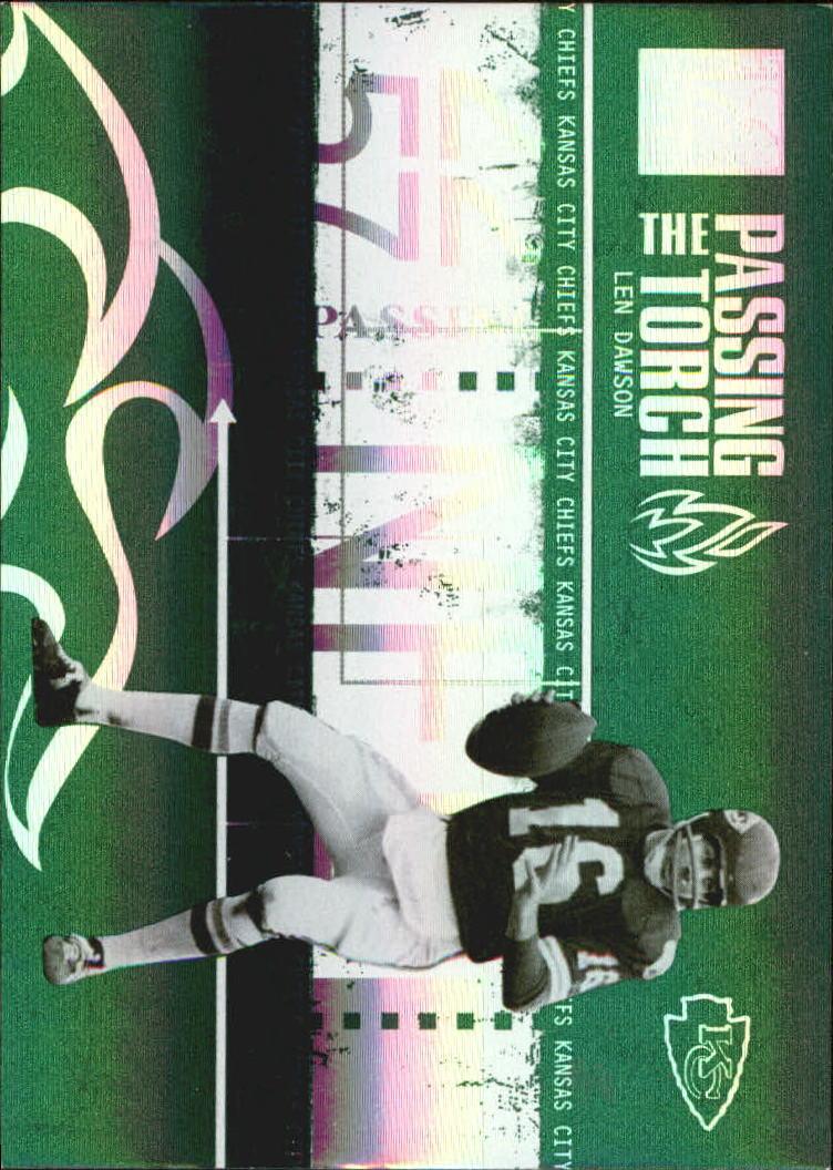 2005 Donruss Elite Passing the Torch Green #PT5 Len Dawson