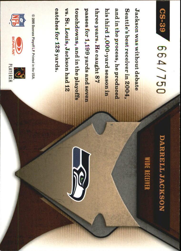2005 Leaf Certified Materials Certified Skills #39 Darrell Jackson back image