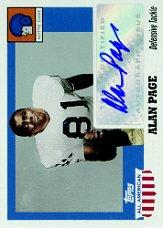 2005 Topps All American Autographs #AAP Alan Page/194*