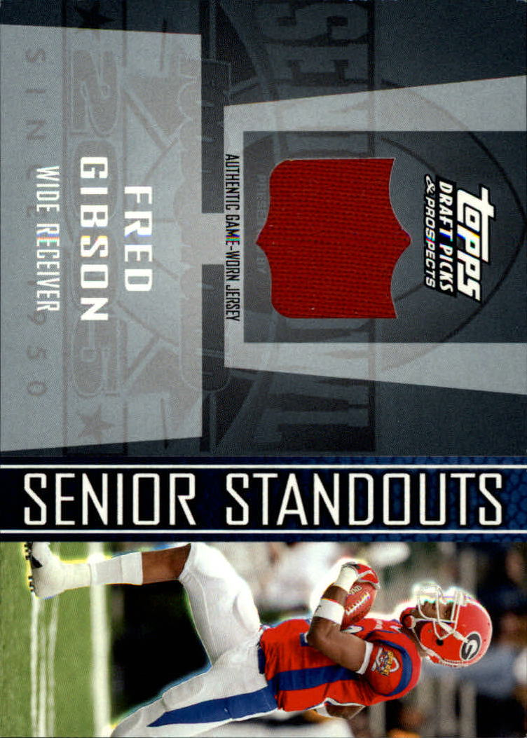 2005 Topps Draft Picks and Prospects Senior Standout Jersey #SSFG Fred Gibson D