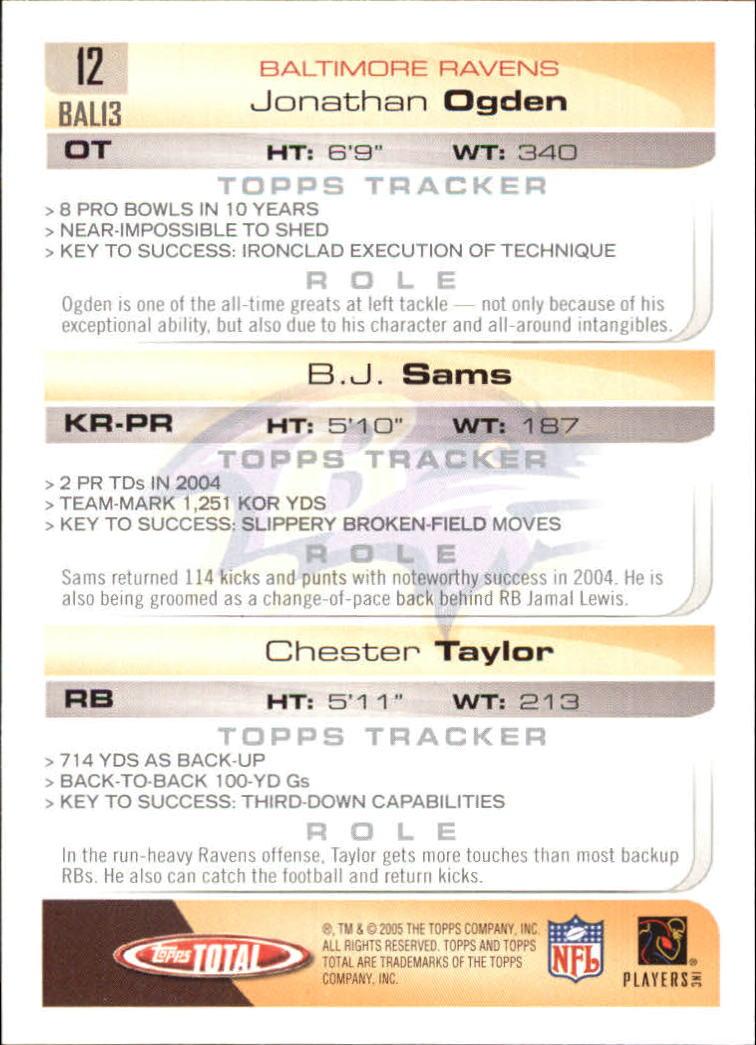 2005-Topps-Total-Football-Card-Pick-1-322 thumbnail 17