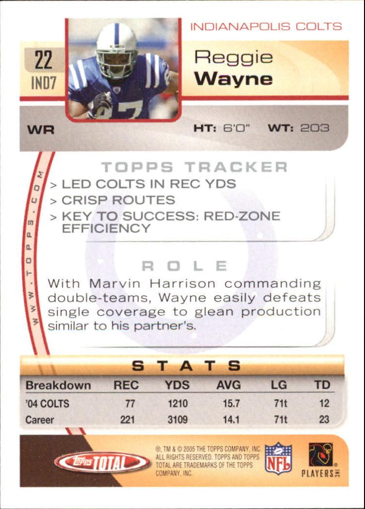 2005-Topps-Total-Football-Card-Pick-1-322 thumbnail 31