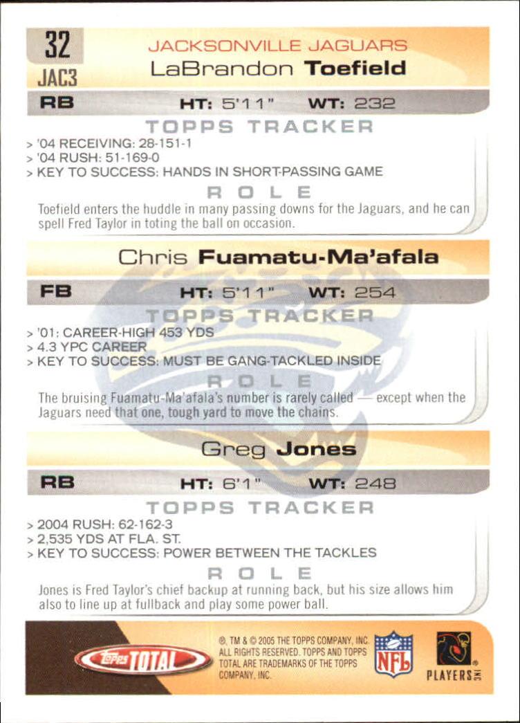 2005-Topps-Total-Football-Card-Pick-1-322 thumbnail 45