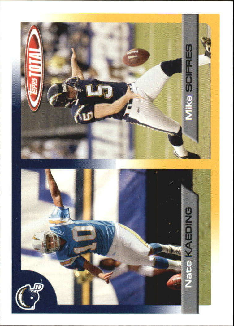 2005 Topps Total #40 Mike Scifres/Nate Kaeding