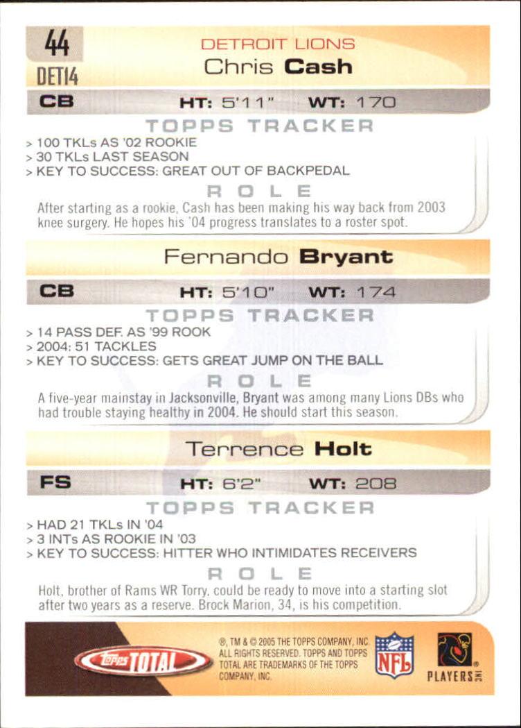 2005-Topps-Total-Football-Card-Pick-1-322 thumbnail 61