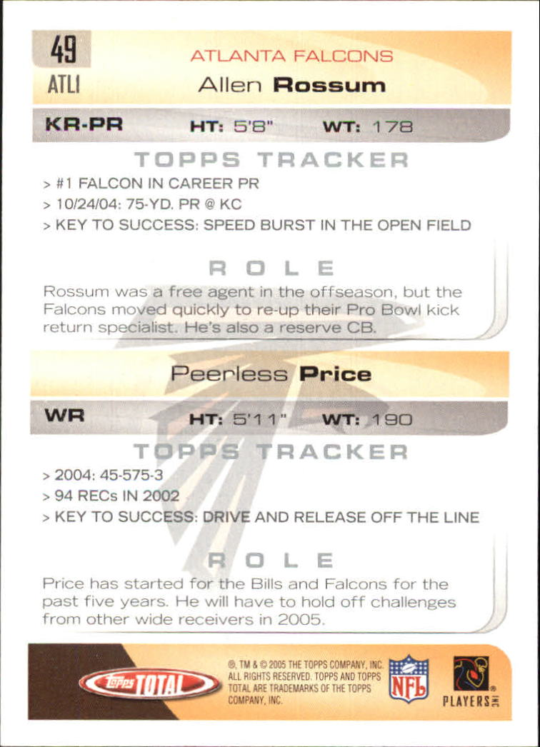 2005-Topps-Total-Football-Card-Pick-1-322 thumbnail 69