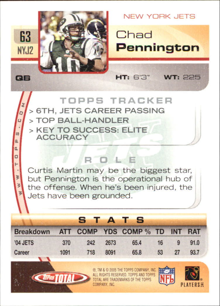 2005-Topps-Total-Football-Card-Pick-1-322 thumbnail 87