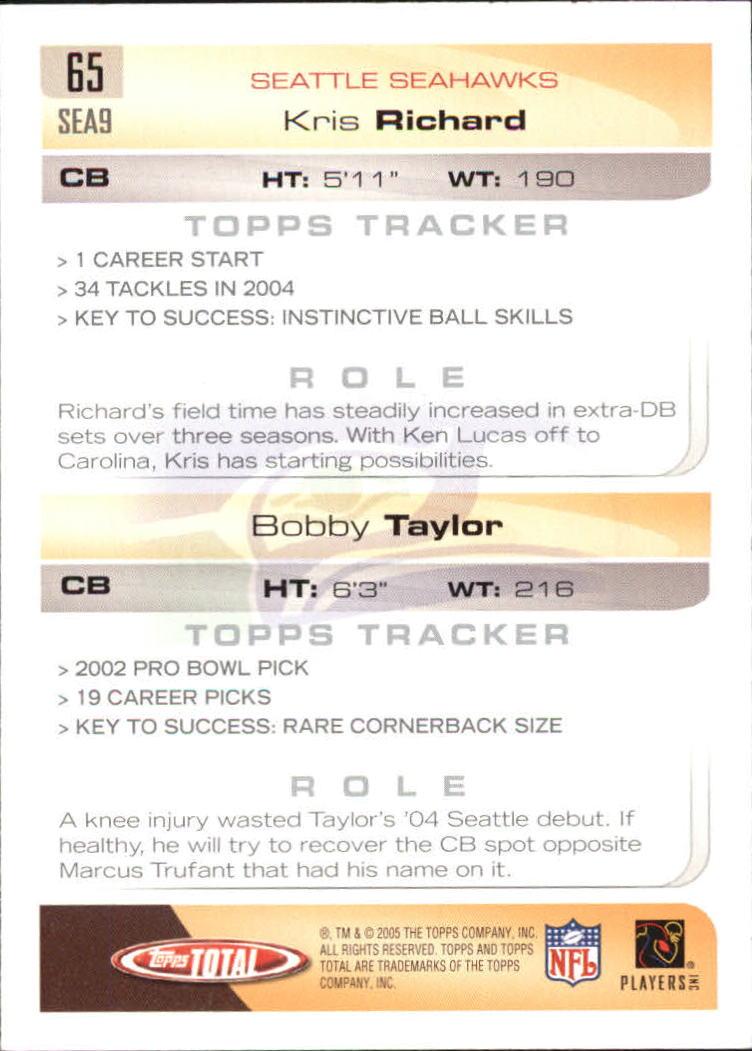 2005-Topps-Total-Football-Card-Pick-1-322 thumbnail 89