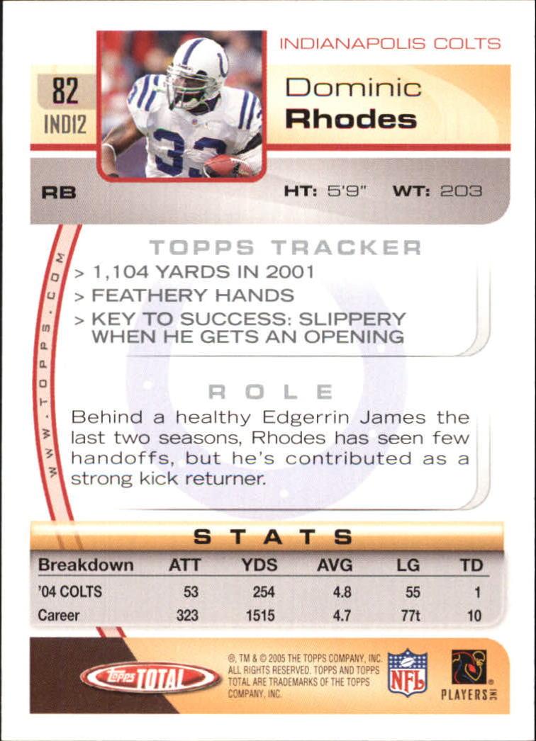 2005-Topps-Total-Football-Card-Pick-1-322 thumbnail 113