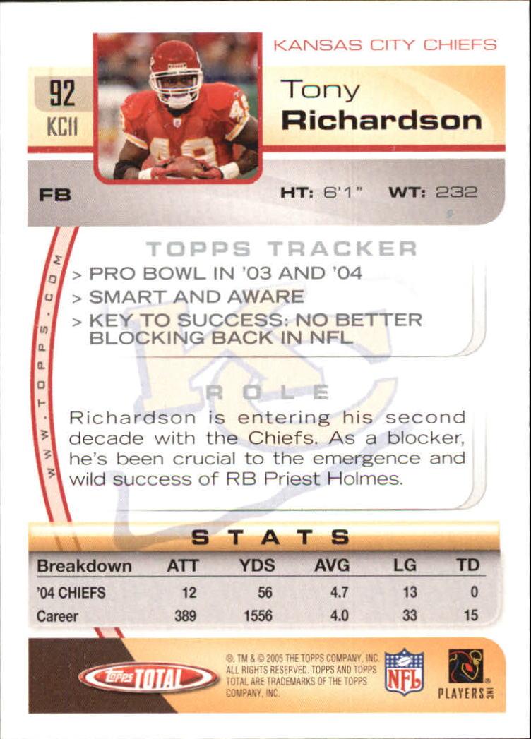 2005-Topps-Total-Football-Card-Pick-1-322 thumbnail 127