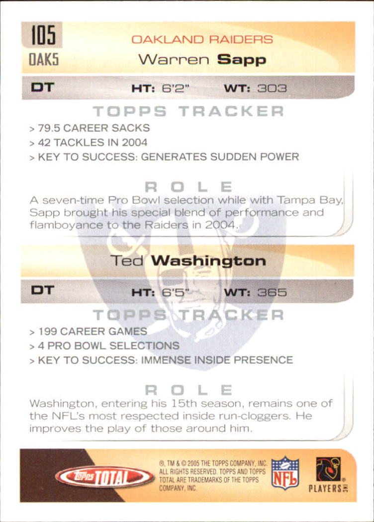 2005-Topps-Total-Football-Card-Pick-1-322 thumbnail 147